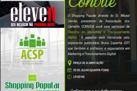 Publicitário Bruno Espanha ministrará Workshop sobre influência das mídias sociais no mercado empreendedor no Shopping Popular