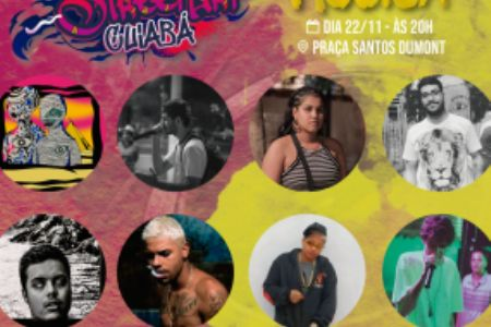 Praça Santos Dumont é rinha de 'batalha de rap' em festival de arte urbana
