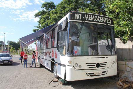 Hemobus faz coleta de sangue no Shopping Popular; confira agenda