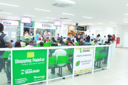 Posto Avançado do Sine Municipal no Shopping Popular atende em média 5.500 pessoas mês