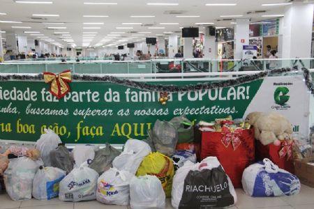 O Shopping Popular recebeu o Pedágio da Solidariedade do Grupo Gazeta