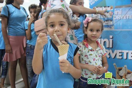 O Shopping Popular recebeu a visita de alunos da Escola Marechal C. Rondon