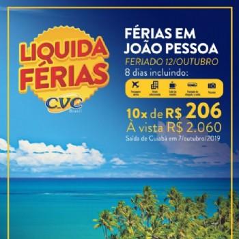 Férias em João Pessoa FERIADO 12 de OUTUBRO 2019